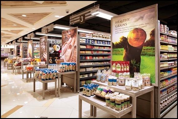 Market Place (Raffles City) - shelf end displays