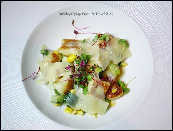 Salt Grill New Year's Eve Menu - Pan fried potato gnocchi corn asparagus ucchini parmesan, thyme, truffle verjuice dressing (2)