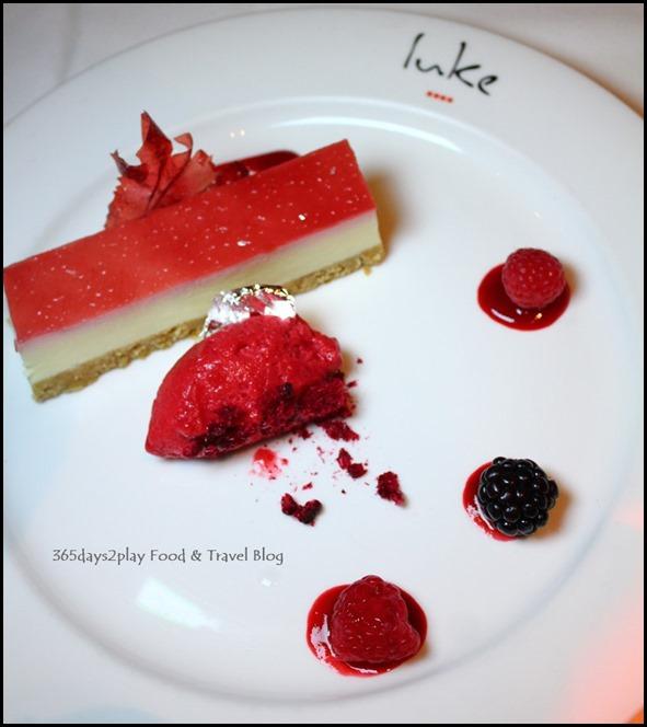 Salt Grill New Year's Eve Menu - Raspberry Cheese Cake (2)