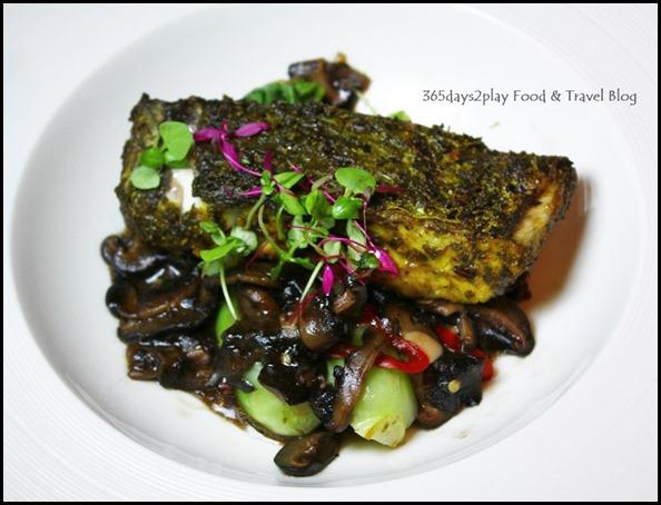 Salt Grill New Year's Eve Menu - Sydney spiced barramundi, char sui mushrooms, bok choy