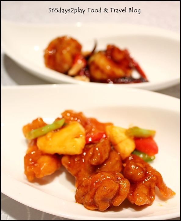 Yan Ting St Regis - Sweet and sour chicken with tri colour pepper and pineapple