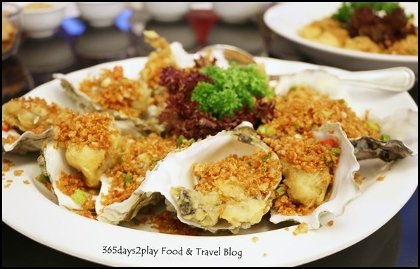 "Quayside Seafood Deep-Fried ""Prosperous"" Fresh Oysters in Cantonese ""Bi Fung Tang"" style"