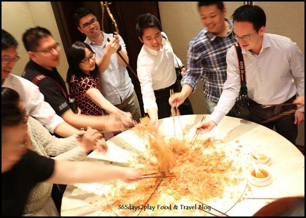 Sheraton CNY 2015 - Lobster Yu Sheng Lo Hei Platter (5)