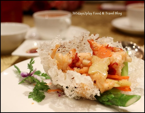 Sheraton CNY 2015 - Sauteed Lobster served in Crispy Rice Basket (1)