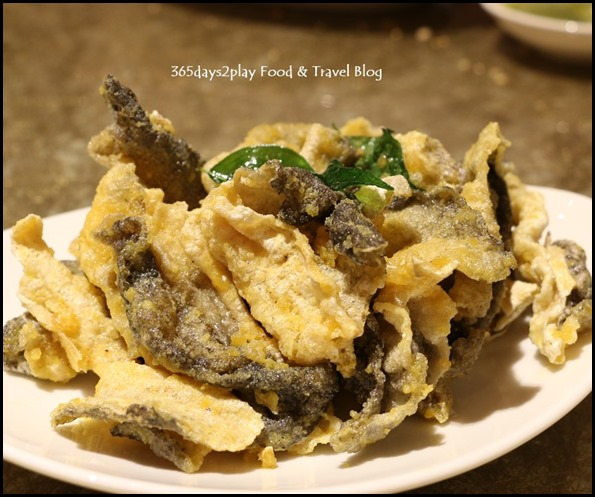 Tao Seafood Asia - Crispy Fish Skin with Salted Egg Sauce