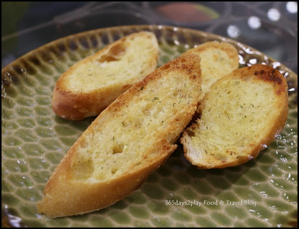 AEIOU Cafe - Garlic Herb Crusty Bread $2.90