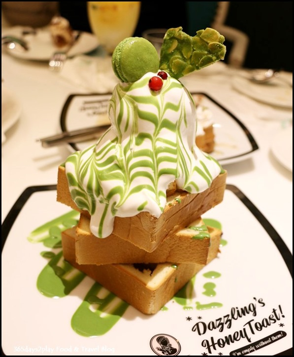 Dazzling Cafe - Matcha with Azki Beans Honey Toast $19.90