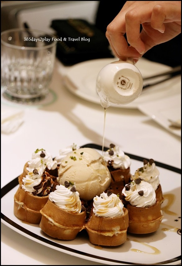 Dazzling Cafe - Valrhona Chocolate Waffle With Bailey's Ice Cream $12.90   $2.50  (1)