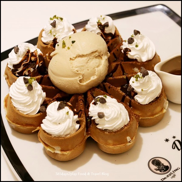 Dazzling Cafe - Valrhona Chocolate Waffle With Bailey's Ice Cream $12.90   $2.50  (3)