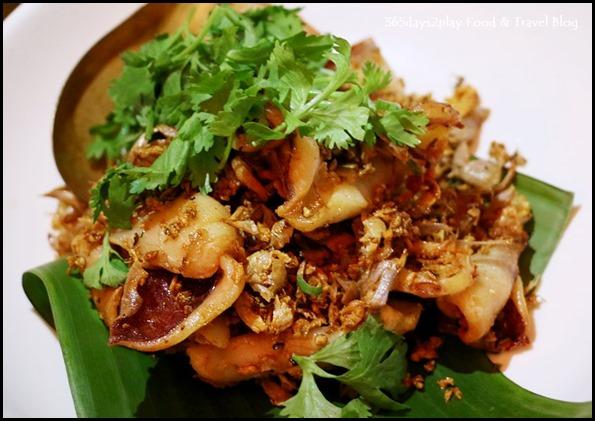 Long Chim - Deep-fried sun dried squid, garlic and peppercorn $26