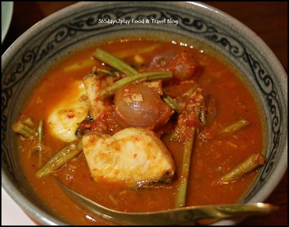 Long Chim - Sour orange curry of snakehead fish with water mimosa $26