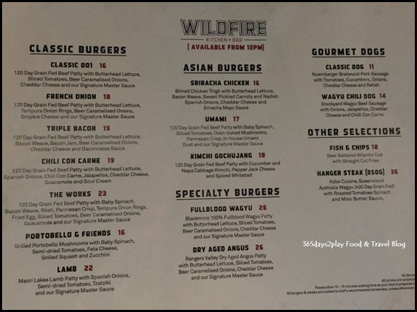 Wildfire Kitchen   Bar Lunch and Dinner Menu