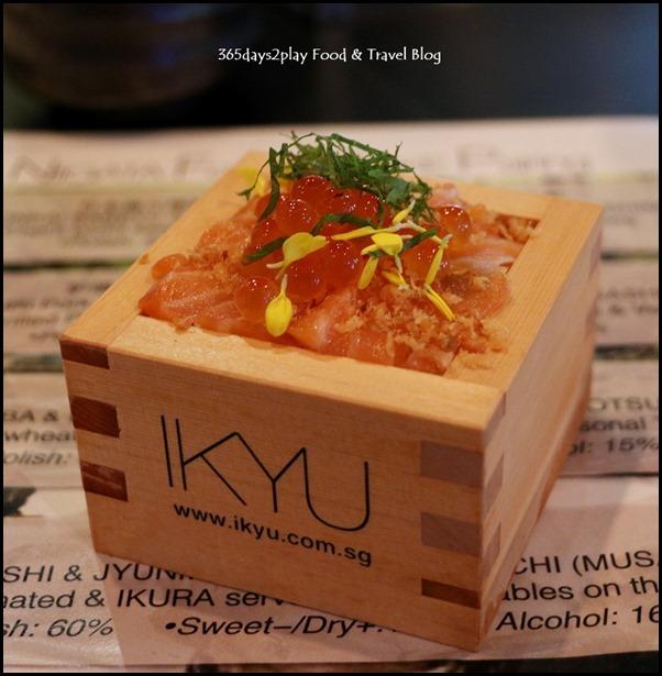 IKYU - Wappa-Meshi (King Salmon marinated & Ikura served with vegetables on Niigata Rice