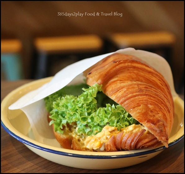 Percolate - Curry Egg Mayo Croissant $7