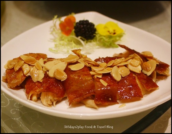 Fengshui Inn Resorts World Singapore - Crispy Roasted Chicken with Garlic Crisps