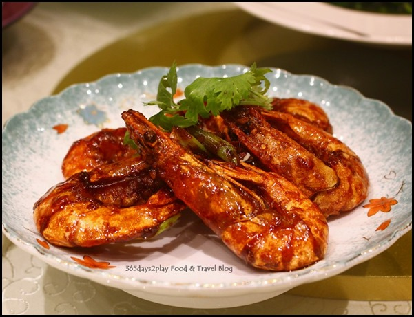 Fengshui Inn Resorts World Singapore - Pan fried prawns with premium soya sauce