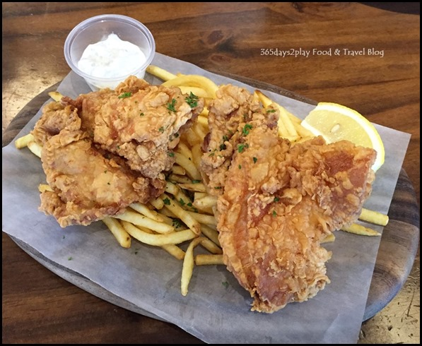 St Marc Bakery & Bar- Chicken & Chips $16.80 (Chicken Thigh and Fries with homemade tartar sauce)