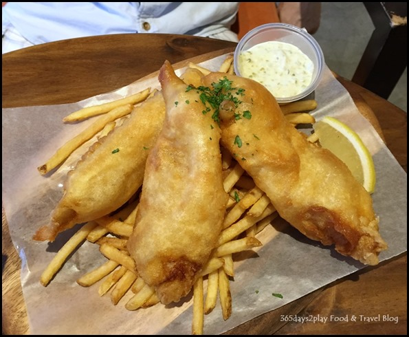 St Marc Bakery & Bar - Fish and Chips $18.80 (Lemon and olive oil marinated John Dory) (1)