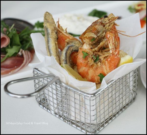 Zafferano Brunch - Deep fried calamari, prawns and anchovies