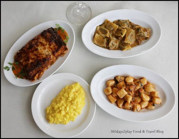 Zafferano Brunch - Mains of Lasagna, ravioli,  gnocchi and ravioli