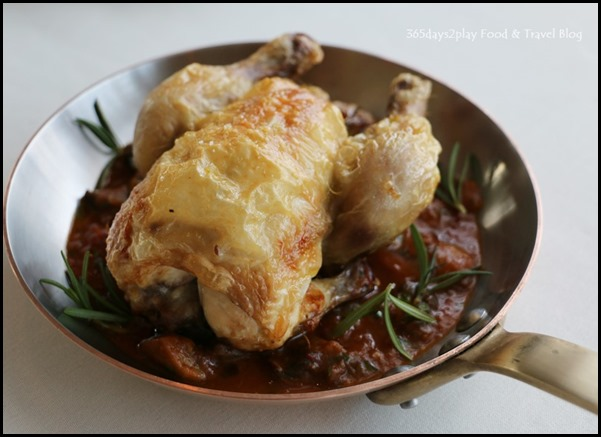 Zafferano Brunch - Roasted whole French spring chicken with bell pepper, red onion, mushrooms