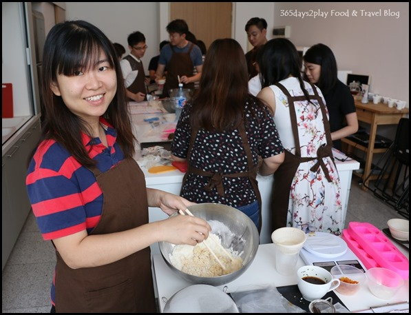 Making the mooncakes (1)