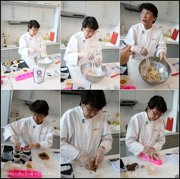 Making the snow skin mooncakes