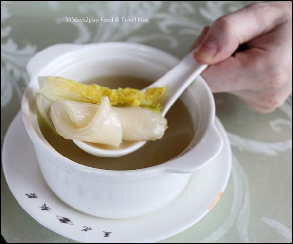 Sichuan Douhua - Double-boiled cartilage soup with fish maw $12