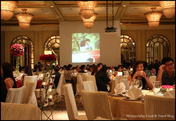 Four Seasons Hotel Wedding Dinner - Side View