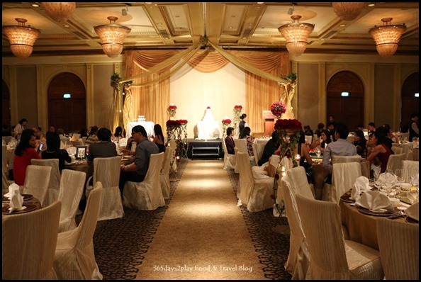 Four Seasons Hotel Wedding Dinner - Stage view