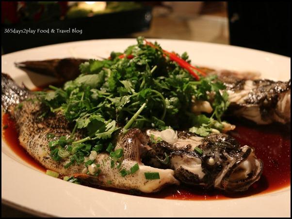 Four Seasons Hotel Wedding Dinner - Steamed Live Soon Hock fish hong kong style