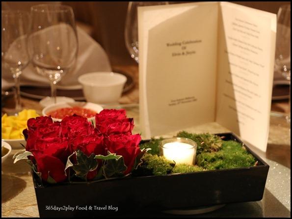 Four Seasons Hotel Wedding Dinner flower display