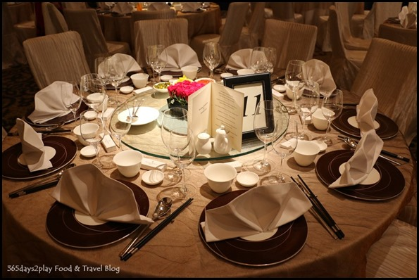 Four Seasons Hotel Wedding Dinner table setting