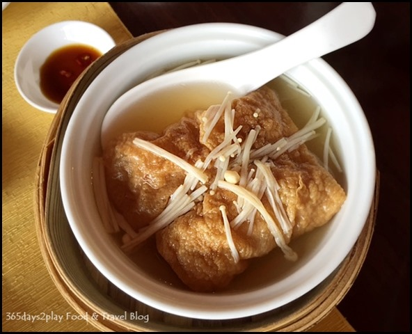 Sze Chuan Court - Braised Bean Curd Skin Roll, Enoki Mushrooms, Superior Broth $7.80