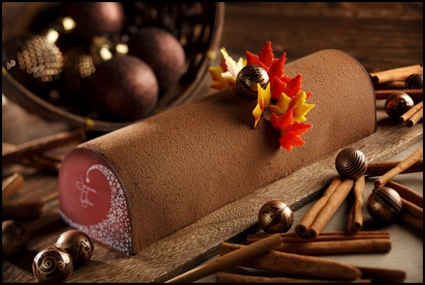 Mandarin Orchard Singapore - Chocolate Truffle and Chestnut Yule Log