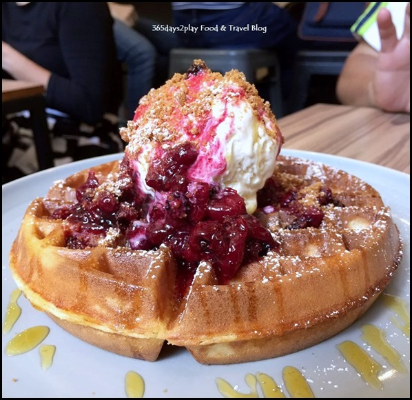 Mixed Berry Compote Buttermilk Waffles (2)