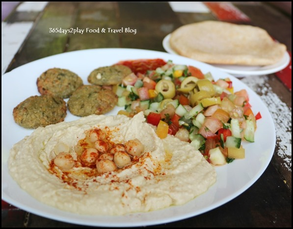 Pasar Bella Pita and Olives - Falafel with Hummus Set (2)