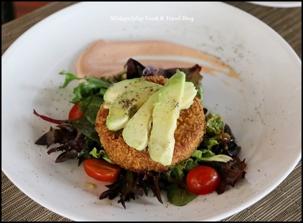 Pepenero - Crab meat cake served with avocado in garlic aioli $24 (1)