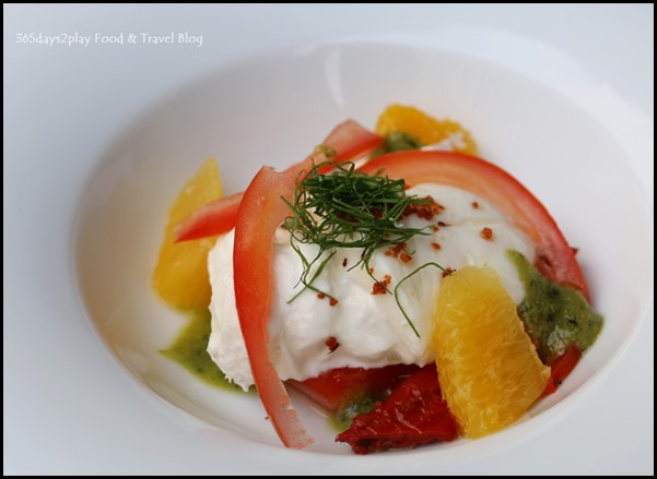 Five Nines - Burrata & Tomato Salad $14