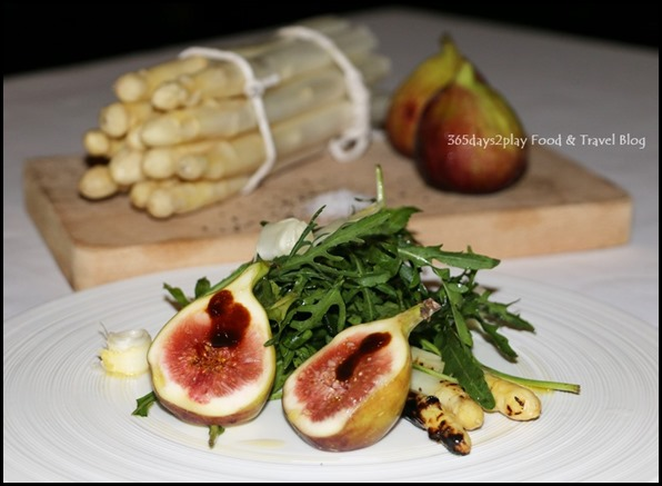 Marriott Pool Grill - Grilled white asaparagus salad, figs, arugula