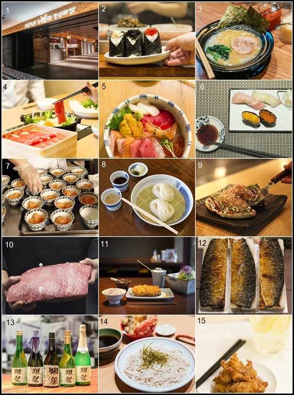 Japan Food Town all restaurants numbered