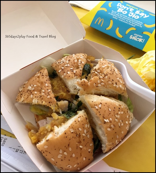Marine Cove McDonalds Salted Egg Chicken Burger