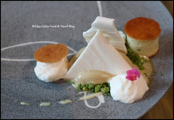 Margaret River Gourmet Escape - Breakfast in Singapore (Pandan Kaya ice cream, pistachio crumble, cake, coconut textures) $19