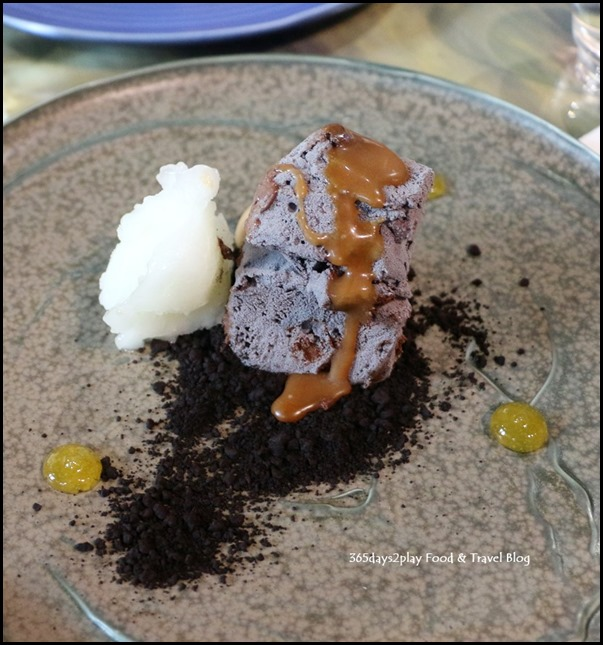 Margaret River Gourmet Escape - Chocolate H20 (Salted caramel, yuzu sorbet, chocolate soil, burnt caramel bavarois) $22