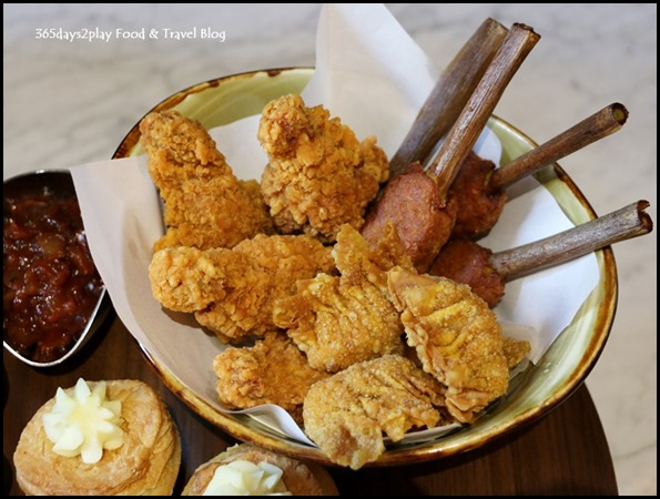 Grand Copthorne Waterfront Afternoon Tea Fried Chicken, Dumpling