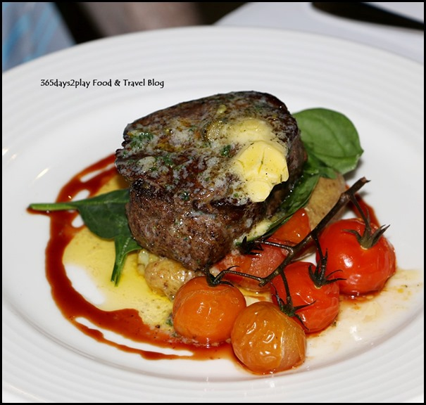 Lamont's - Angus eye fillet, salt roasted kipflers, scorched baby tomatoes & peppercorn butter $39.50 (2)