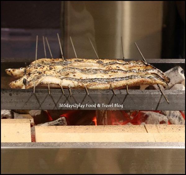 Man Man Japanese Unagi Restaurant grilling in progress