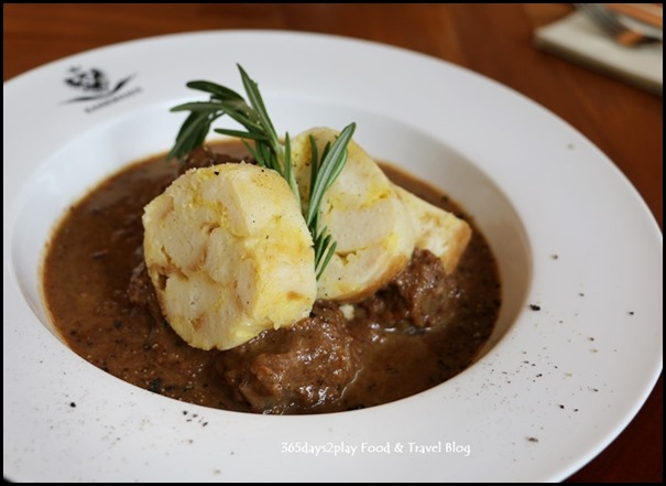 Kaiserhaus - Wildragout (Game Stew - of deer shoulder served with dumplings and red cabbage) $32