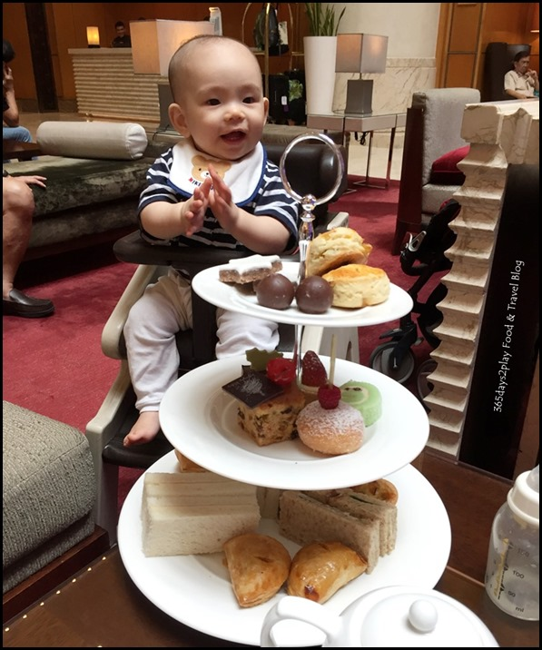 Baby loves having afternoon tea