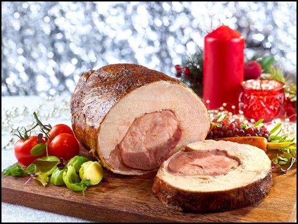 Festive Goodies - Turducken (Boneless Chicken and Duck stuffed Turkey) with Madeira Sauce